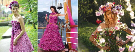 Красивые платья дефиле